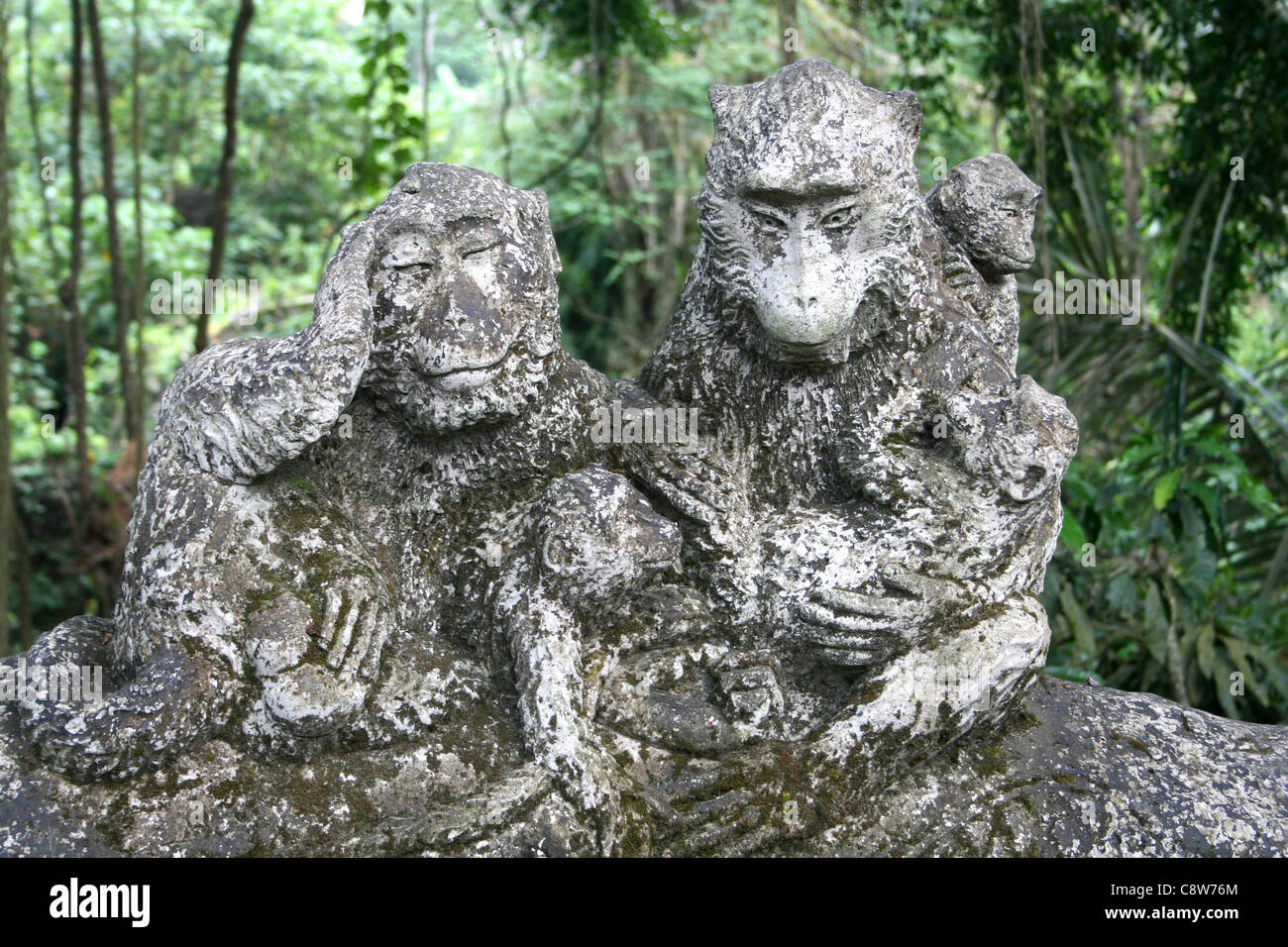 Monkey carving stock photos images