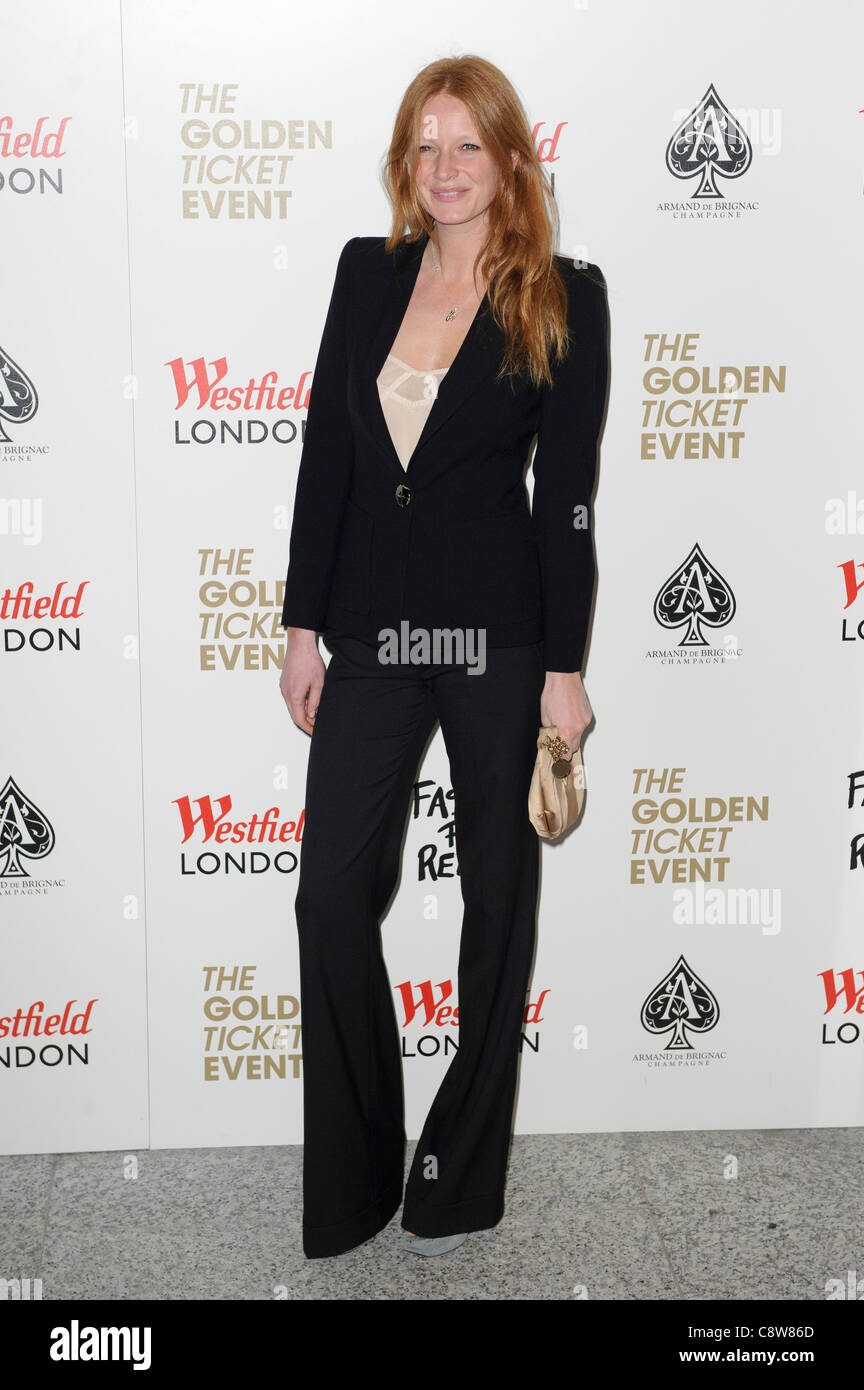 Olivia Inge arrives for the launch of the Fashion for Relief. - Stock Image