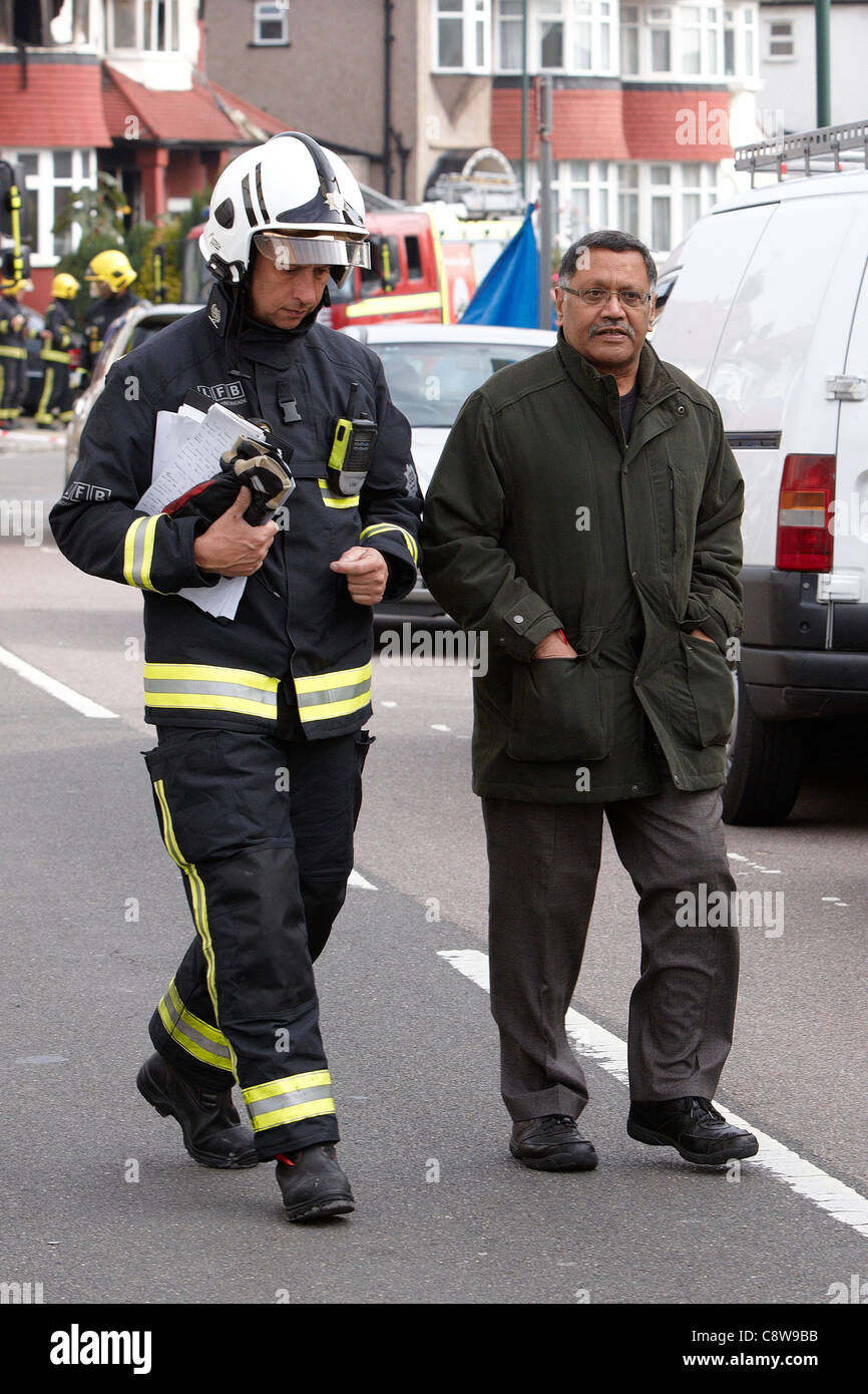 Navin Shah (pictured right), London Assembly Member and Member of the London Fire and Emergency Planning Authority - Stock Image