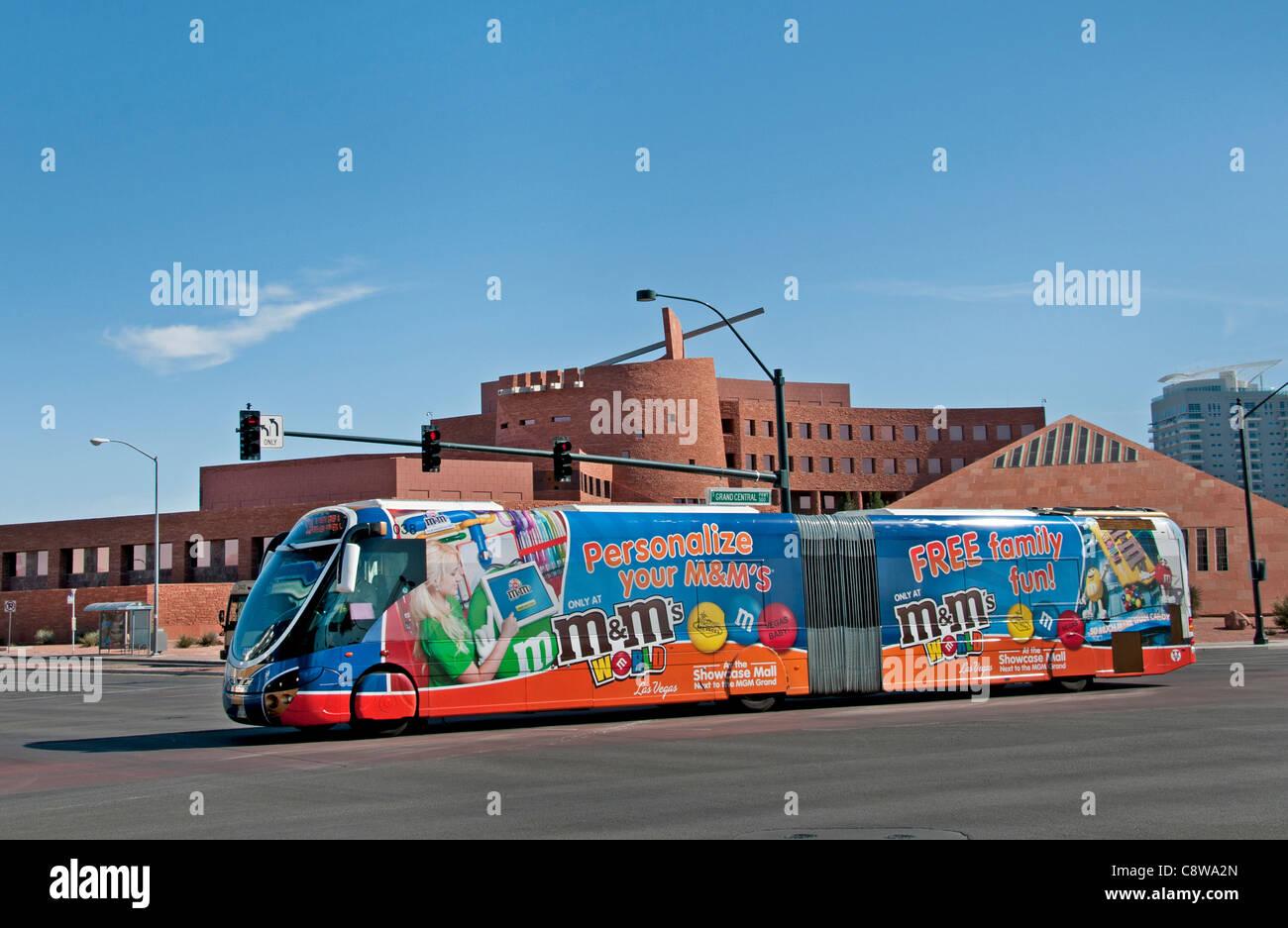 Las Vegas Clark County Government Center  United States Nevada public, transportation bus local - Stock Image
