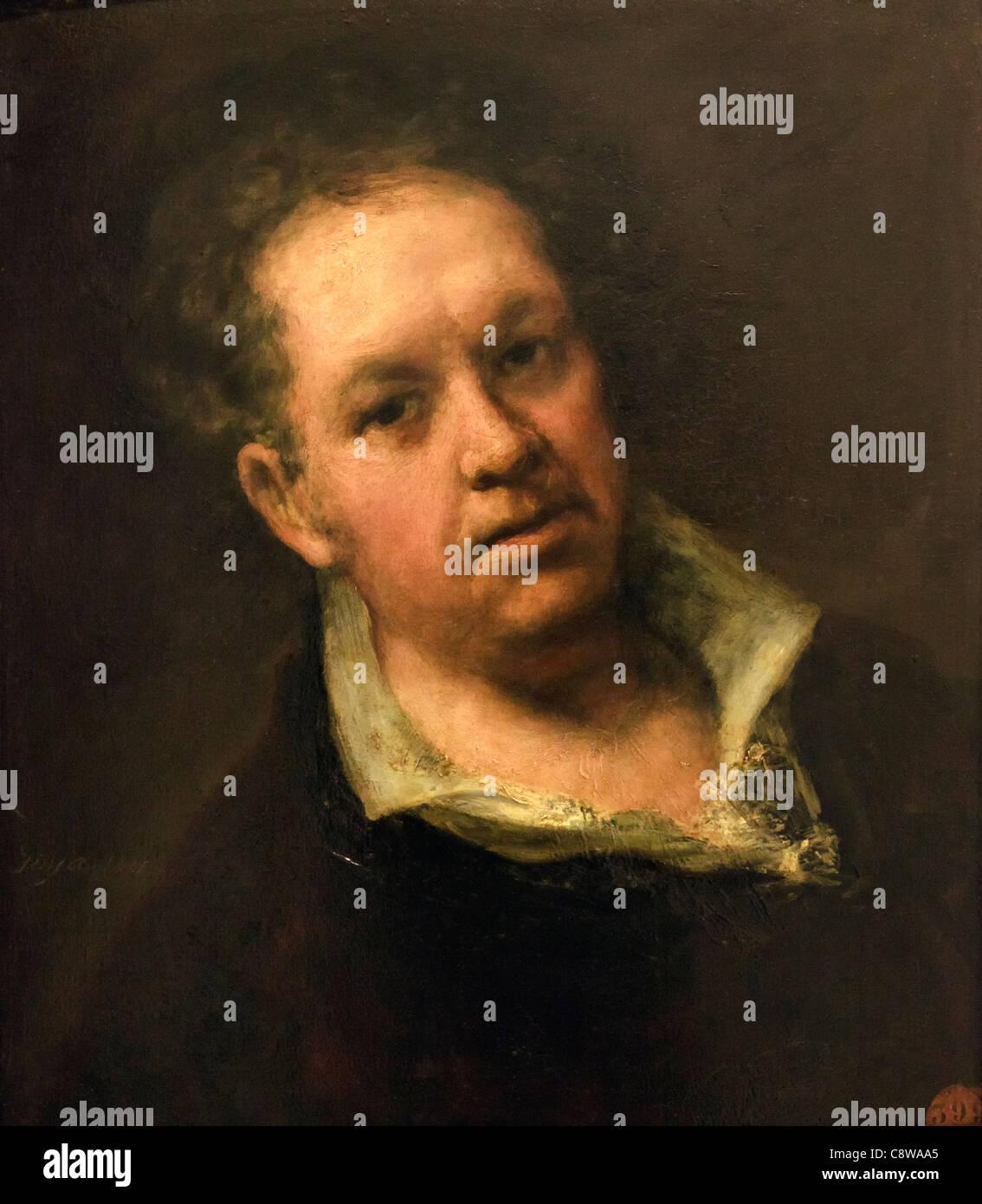 Self-portrait. Francisco Goya at 69 years of age. Francisco José de Goya y Lucientes, 1746 – 1828. Spanish - Stock Image
