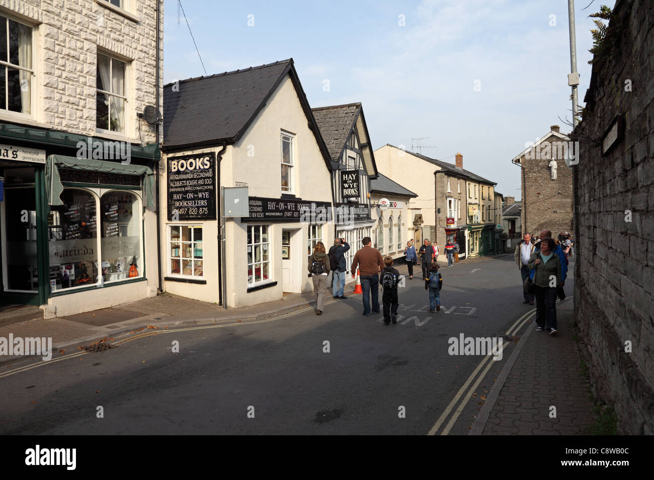 Book Sellers Hay on Wye Powys Wales UK Stock Photo: 39895420