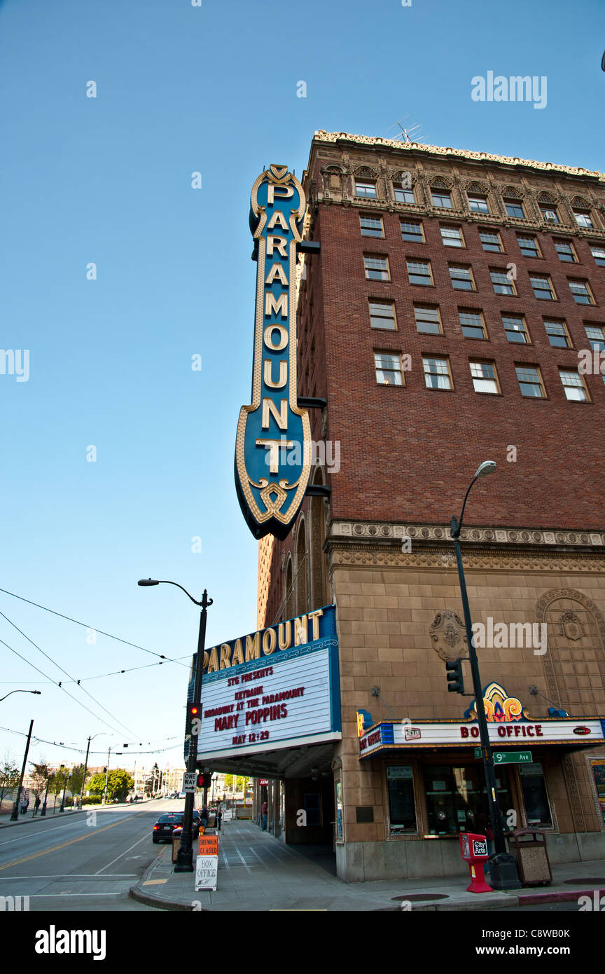Seattle's historic Paramount Theatre - Stock Image