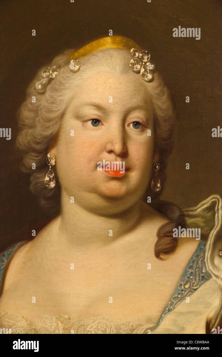 Barbara of Portugal, or Braganza. (Maria Madalena Bárbara Xavier Leonor Teresa Antónia Josefa) 1711 – - Stock Image