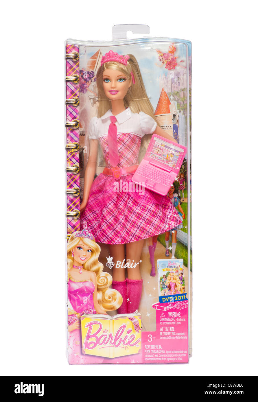 A Boxed Childs childrens girls Barbie Doll - Stock Image