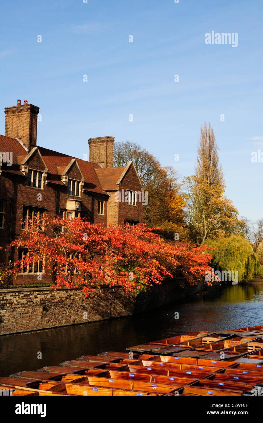 Magdalene College in Autumn, Cambridge, England, Uk - Stock Image