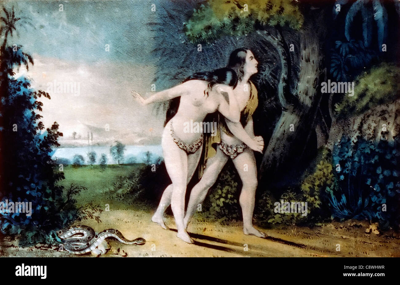 Adam and Eve Driven Out of Paradise - Stock Image