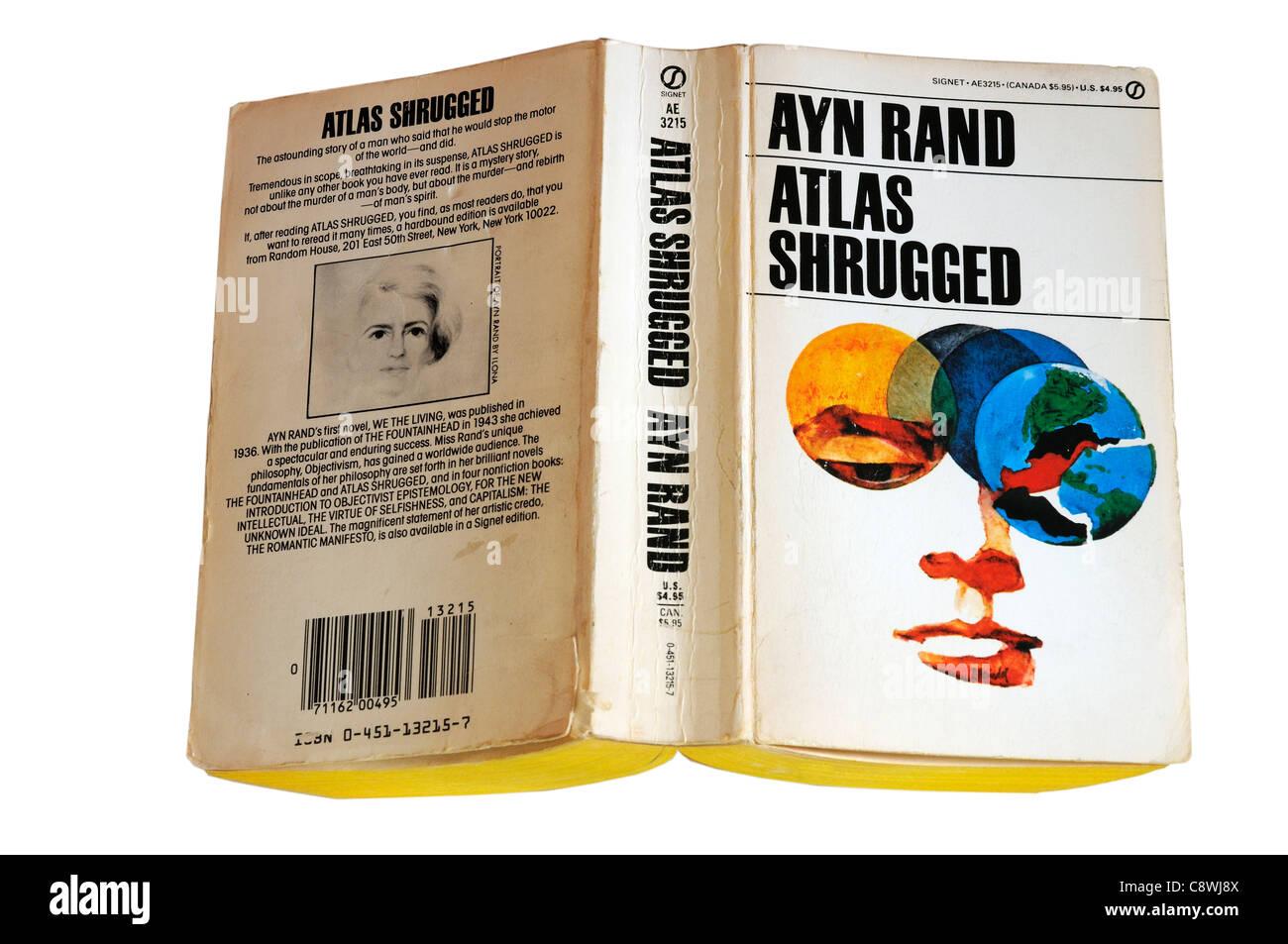 Atlas Shrugged by Ayn Rand - Stock Image
