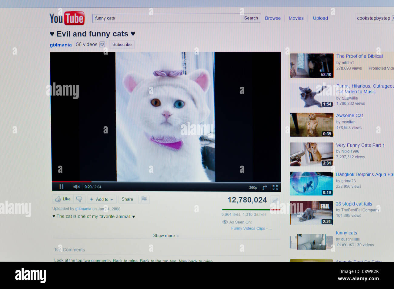 Image of: Clips Youtubecom Funny Video Screenshot Alamy Youtubecom Funny Video Screenshot Stock Photo 39901755 Alamy