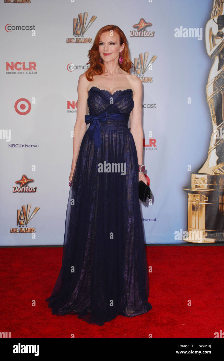Marcia Cross wearing gown Jean Fares Couture arrivals 2011 NCLR ALMA ...