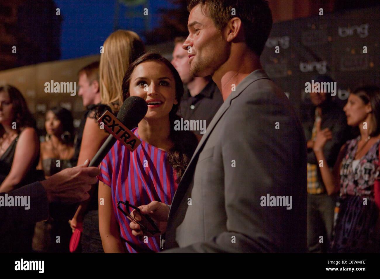 Rachael Leigh Cook Daniel Gillies arrivals Bing PresentsCW Premiere Party Steven J Ross Theater Burbank CA September - Stock Image