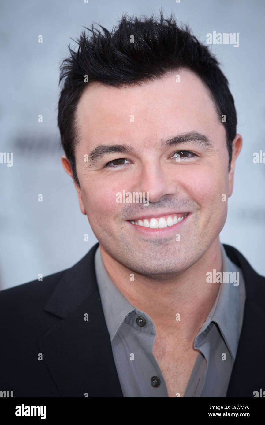 Seth MacFarlane arrivals Comedy Central Roast Charlie Sheen Sony Pictures Studios Los Angeles CA September 10 2011 - Stock Image
