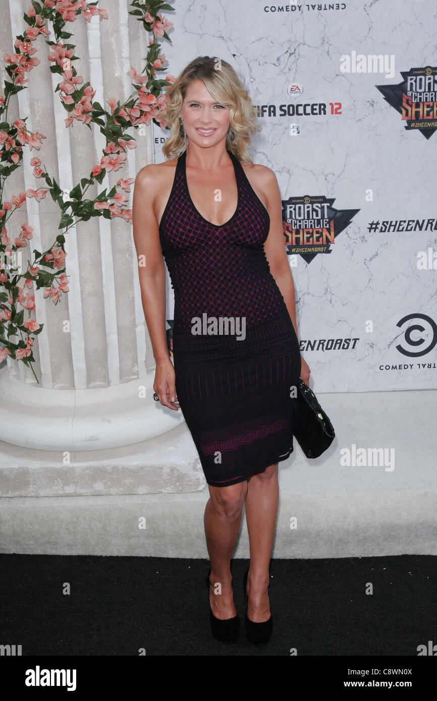 Kristy Swanson arrivals Comedy Central Roast Charlie Sheen Sony Pictures Studios Los Angeles CA September 10 2011 - Stock Image