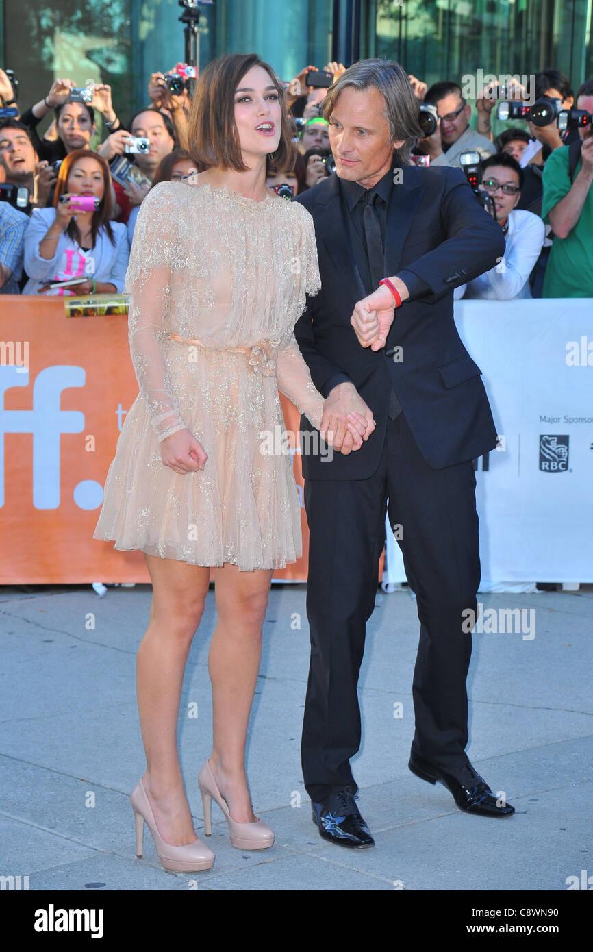 Keira Knightley Viggo Mortensen arrivals DANGEROUS METHOD Premiere atToronto International Film Festival Roy Thomson - Stock Image