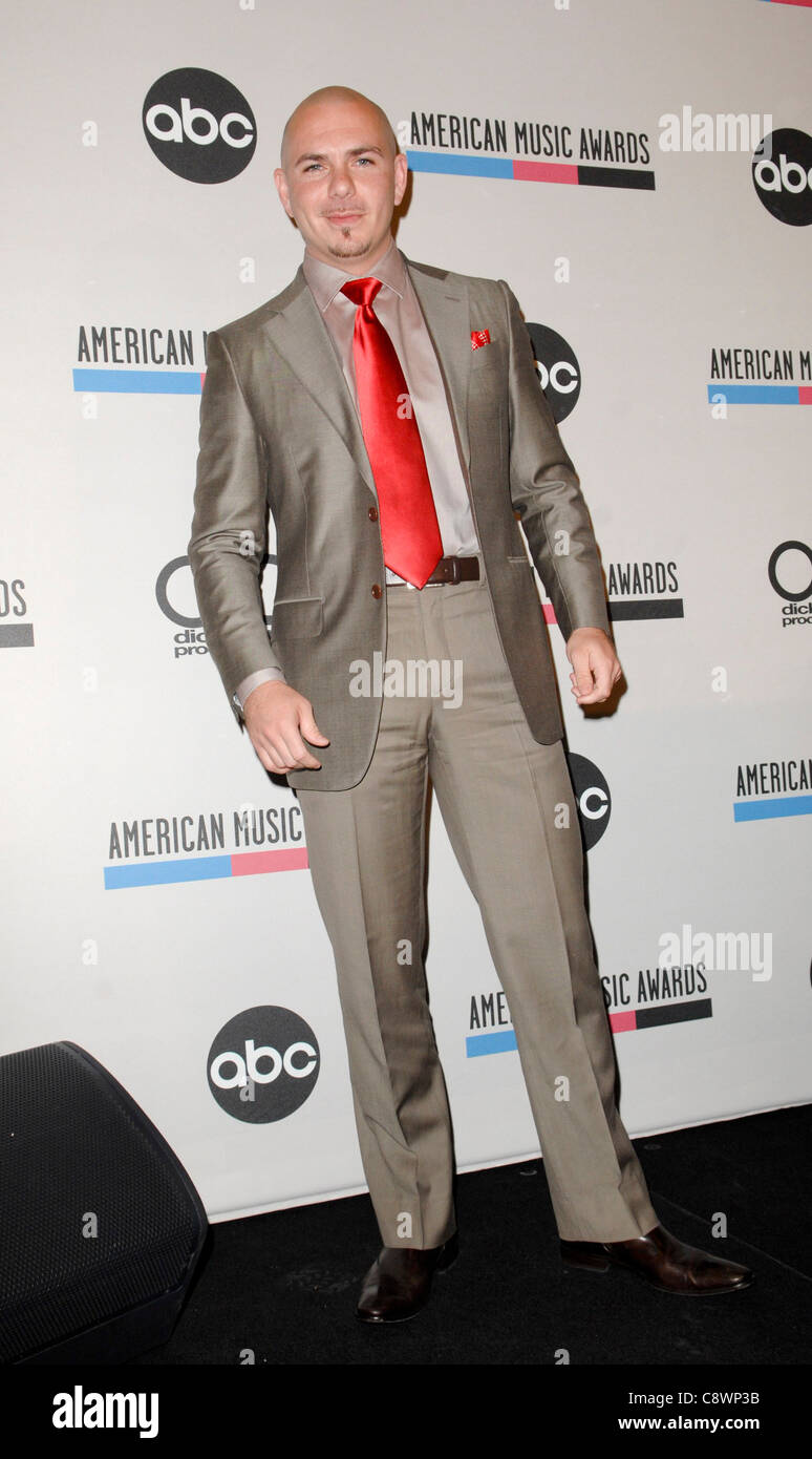 Pitbull atpress conference 2011 American Music Awards AMA Nominees Press Conference JW Marriott Los Angeles L.A - Stock Image