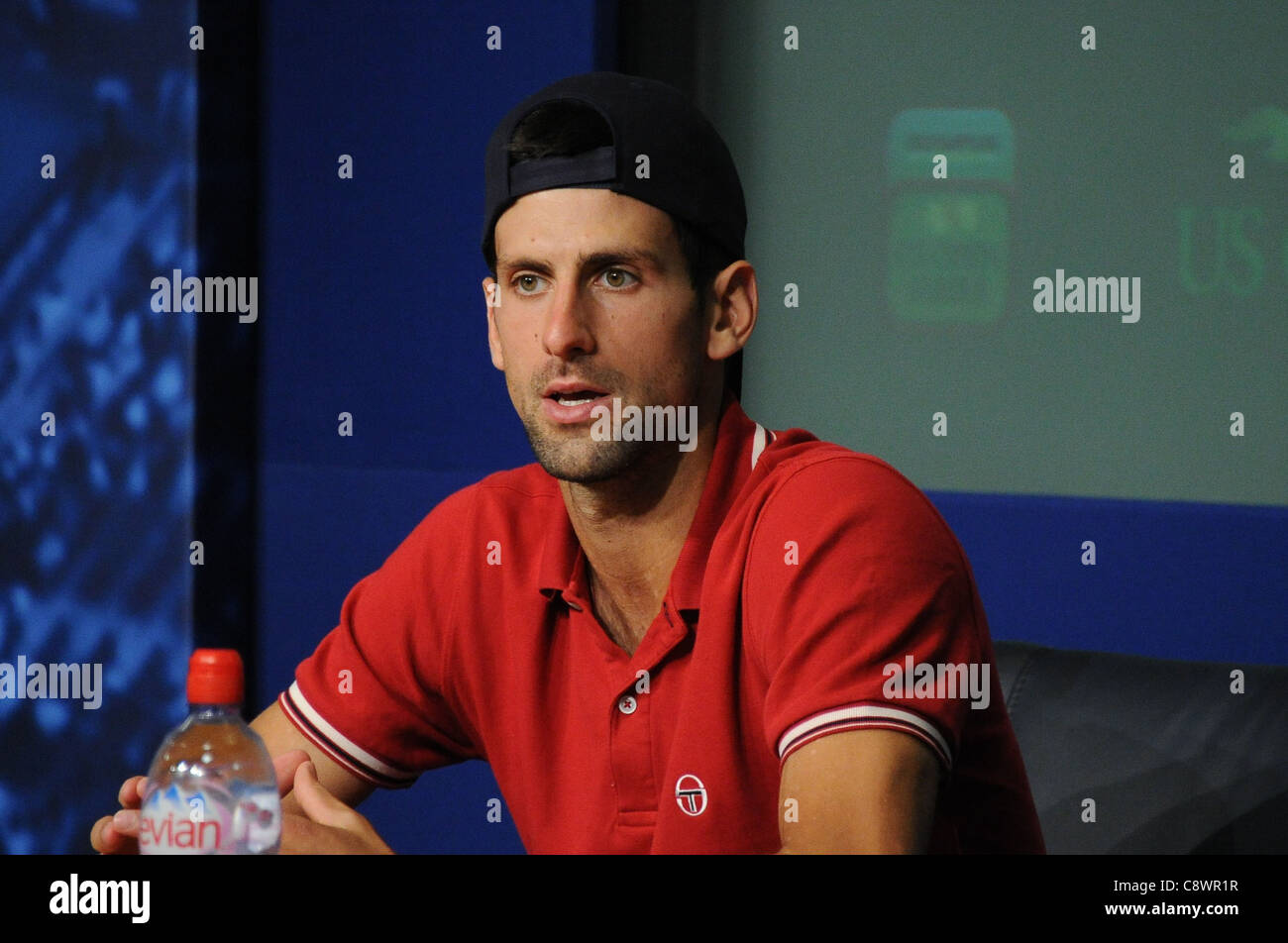 Novak Djokovic in attendance US OPEN 2011 Tennis Championship - MON USTA Billie Jean King National Tennis Center - Stock Image
