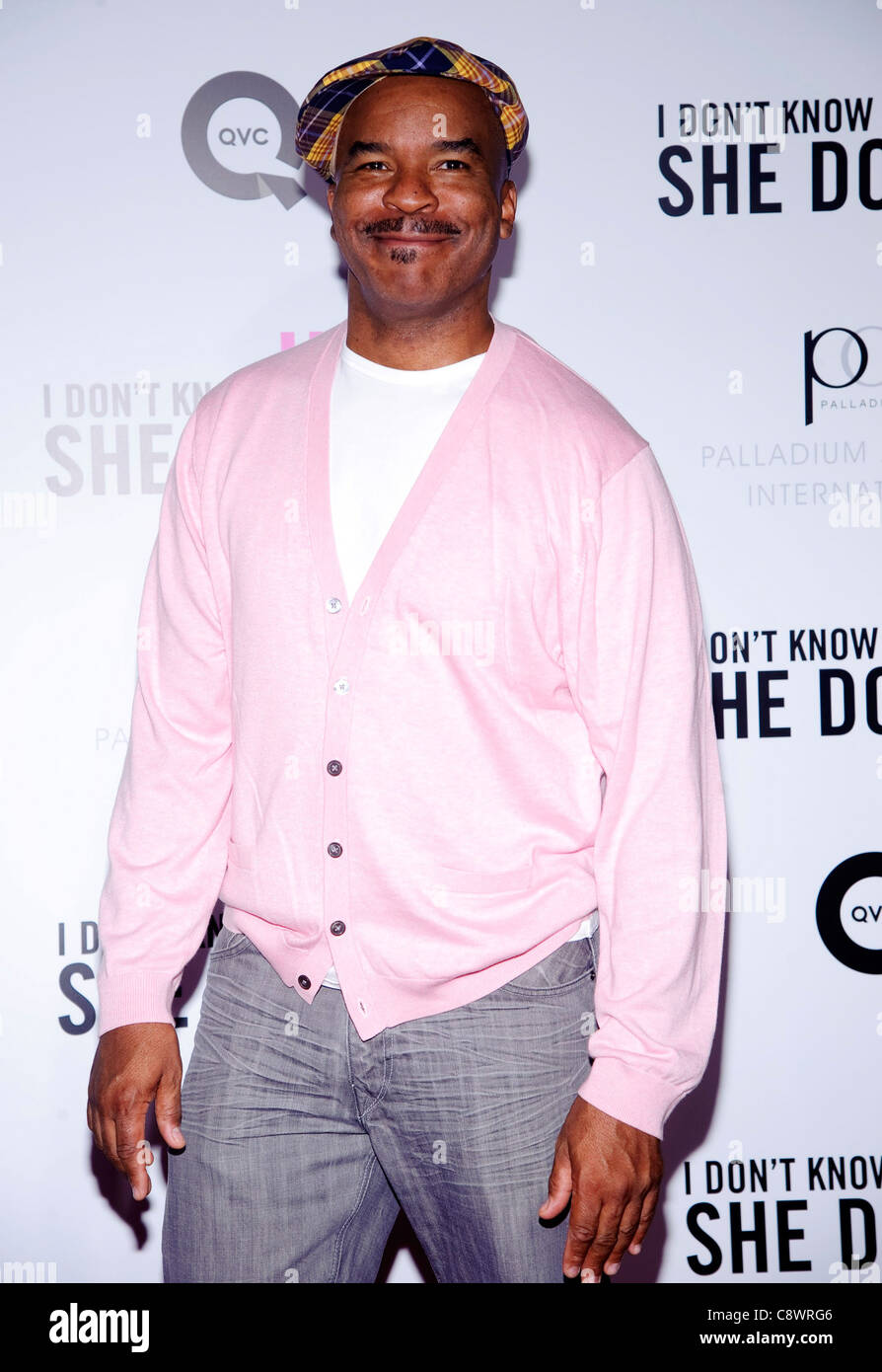 David Alan Grier arrivals I DON''T KNOW HOW SHE DOES IT Premiere Loews Lincoln Square Theater New York NY - Stock Image