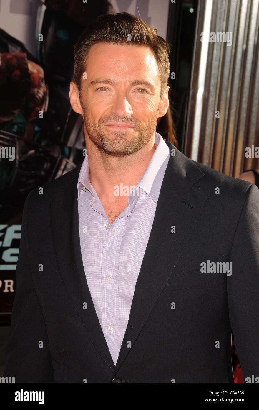 Hugh Jackman arrivals REAL STEEL Premiere Gibson Amphitheatre Universal Studios Hollywood Los Angeles CA October - Stock Image