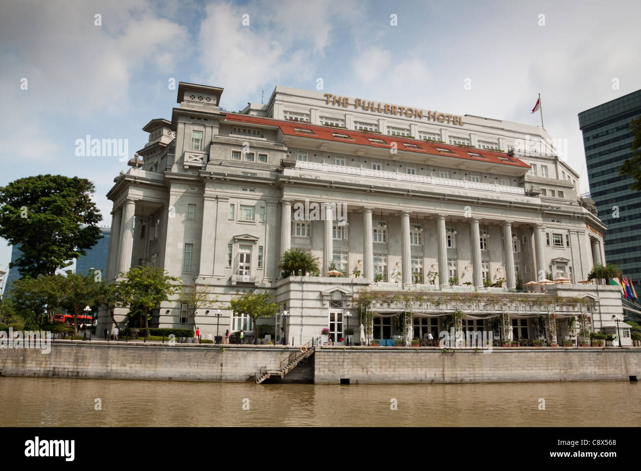 The Fullerton Hotel, Singapore - Stock Image