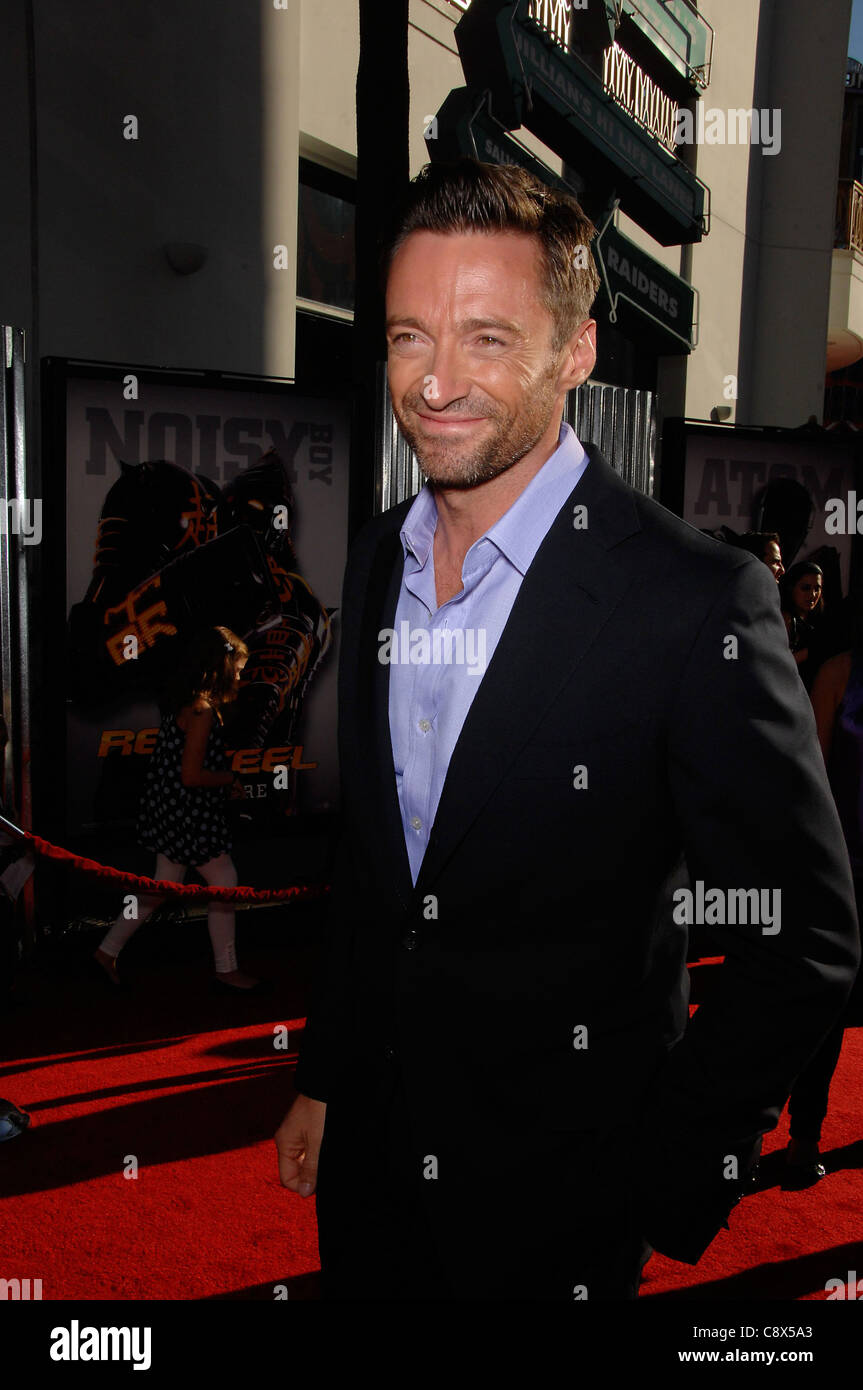 Hugh Jackman arrivals REAL STEEL Premiere Gibson Amphitheatre Universal Studios Hollywood Los Angeles CA October - Stock Image