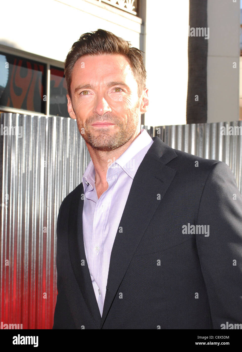 Hugh Jackman arrivals REAL STEEL Premiere Gibson Theatre Universal Studios Hollywood Los Angeles CA October 2 2011 - Stock Image
