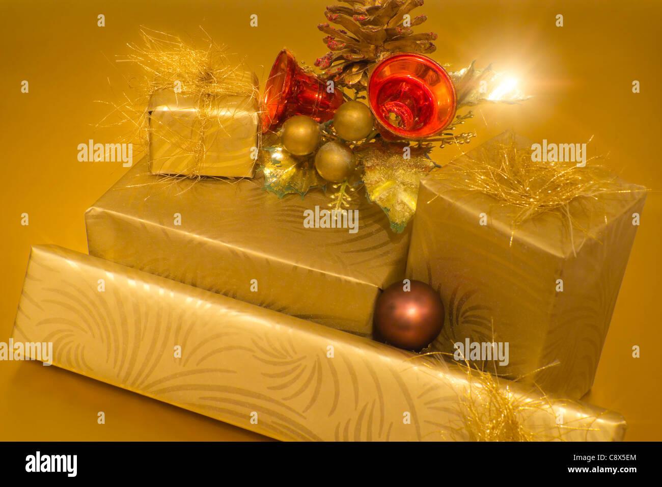 Christmas Gifts Stock Photo: 39913068 - Alamy