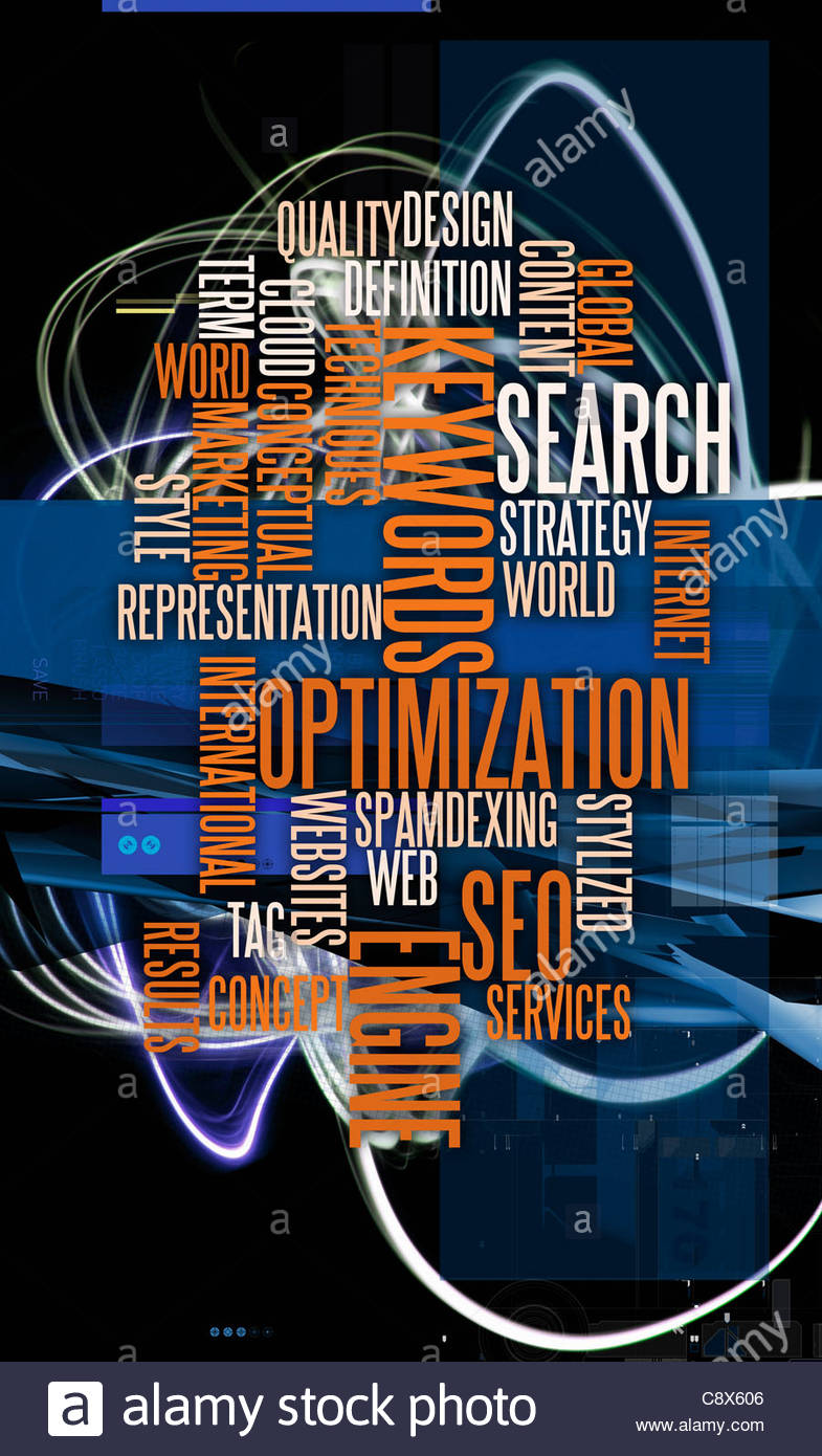 Montage of business buzzwords - Stock Image