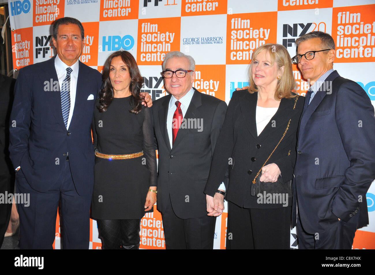 Richard Pepler Olivia Harrison Martin Scorsese Helen Morris Michael Lombardo arrivals GEORGE HARRISON LIVING INMATERIAL - Stock Image