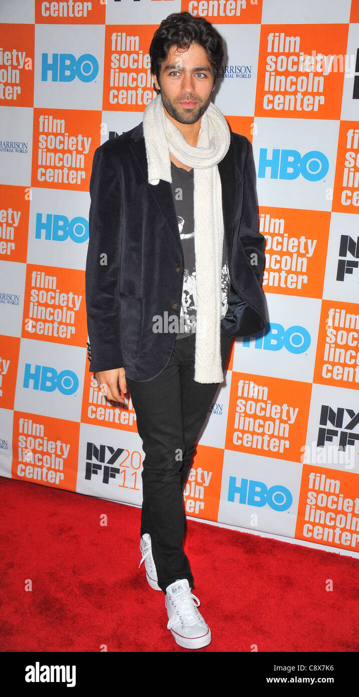 Adrian Grenier arrivals GEORGE HARRISON LIVING INMATERIAL WORLD Premiere49th New York Film Festival NYFF Alice Tully - Stock Image