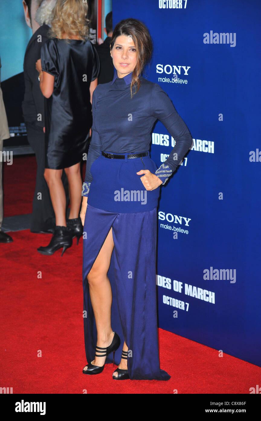 Marisa Tomei wearing Preen dress arrivalsIDES MARCH New York PremiereZiegfeld Theatre New York NY October 5 2011 - Stock Image