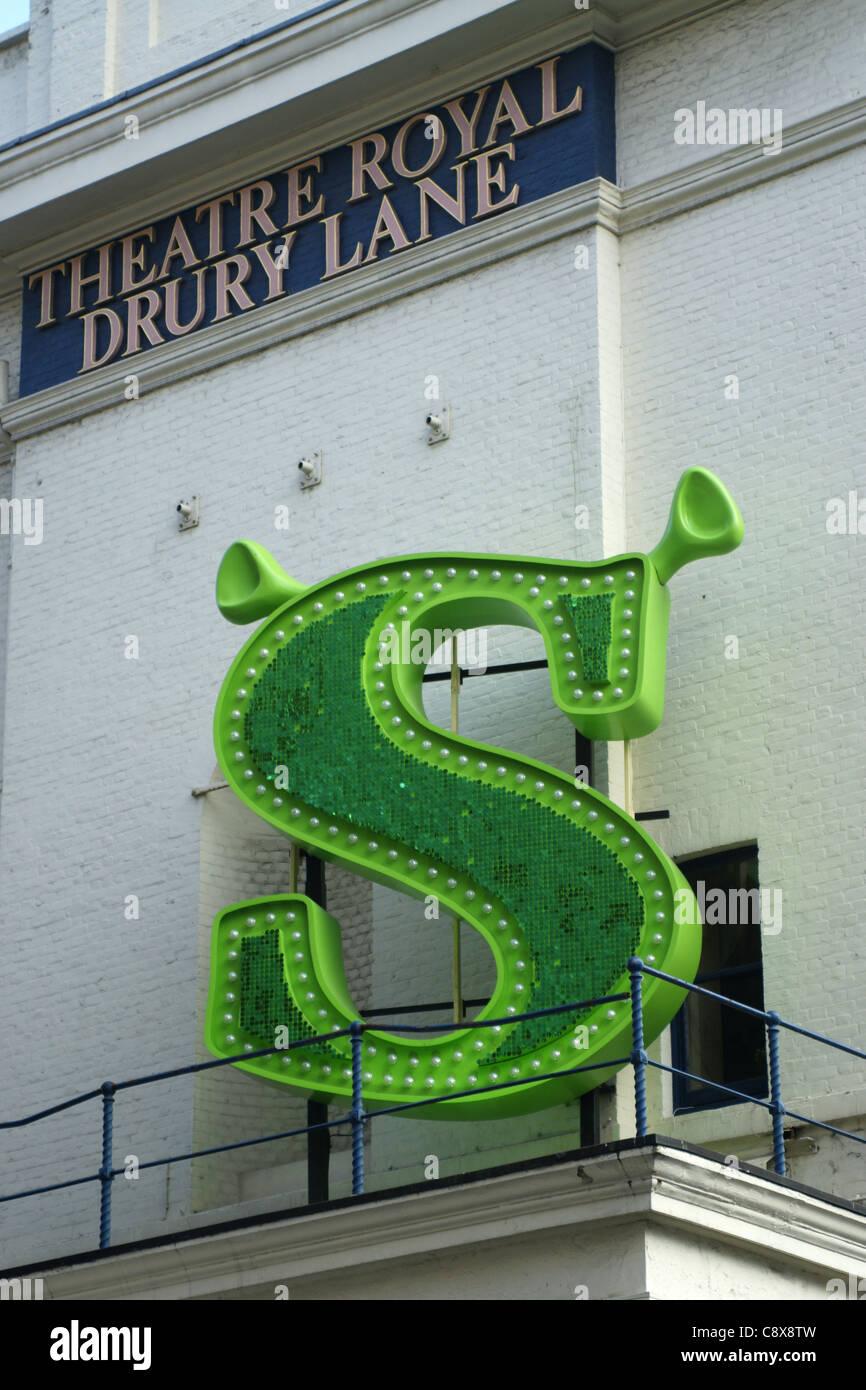 Shrek stage play logo - Stock Image