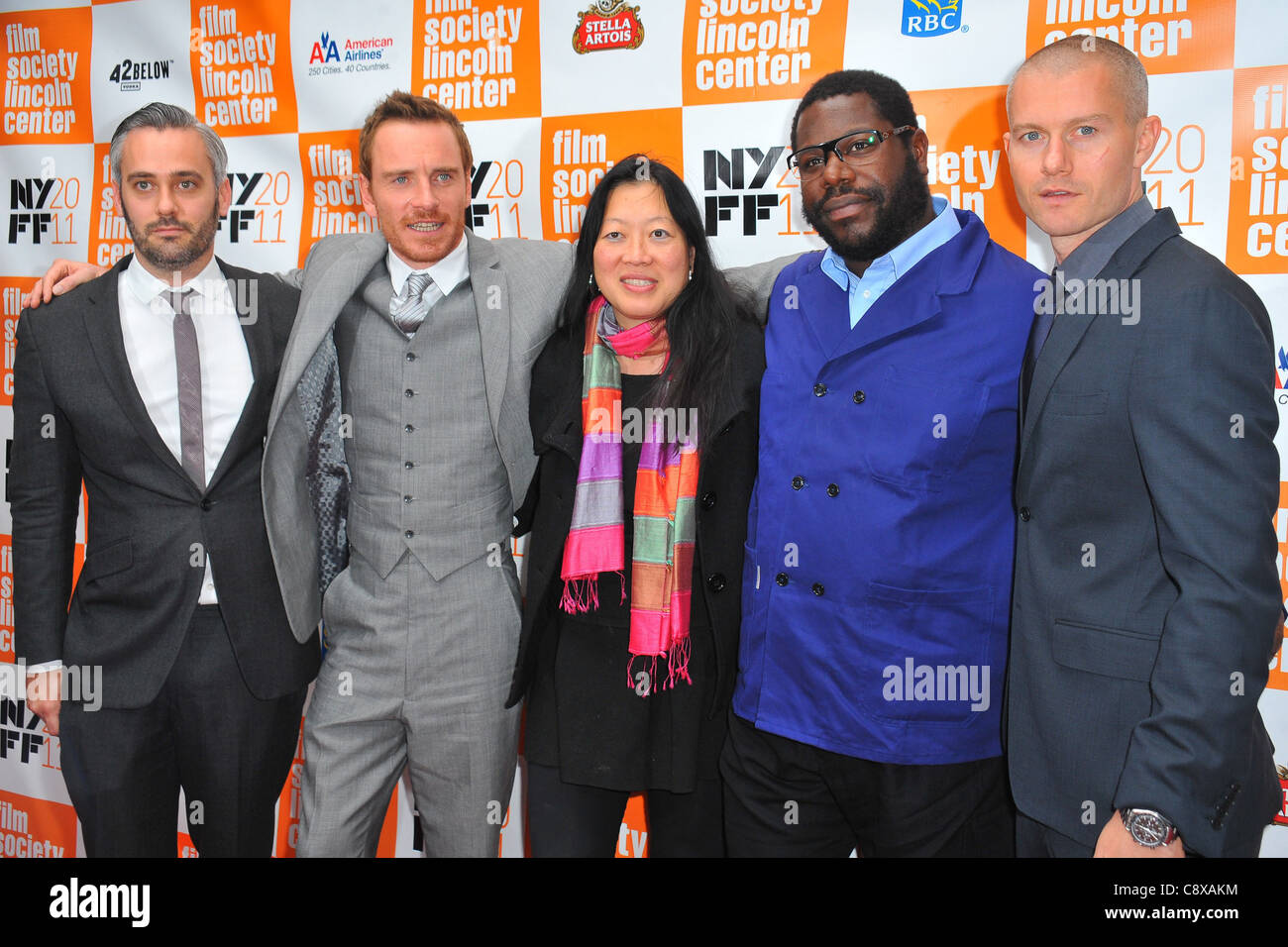 Iain Canning Michael Fassbender Rose Kuo Steve McQueen James Badge Dale arrivals SHAME Premiere 49th Annual New - Stock Image
