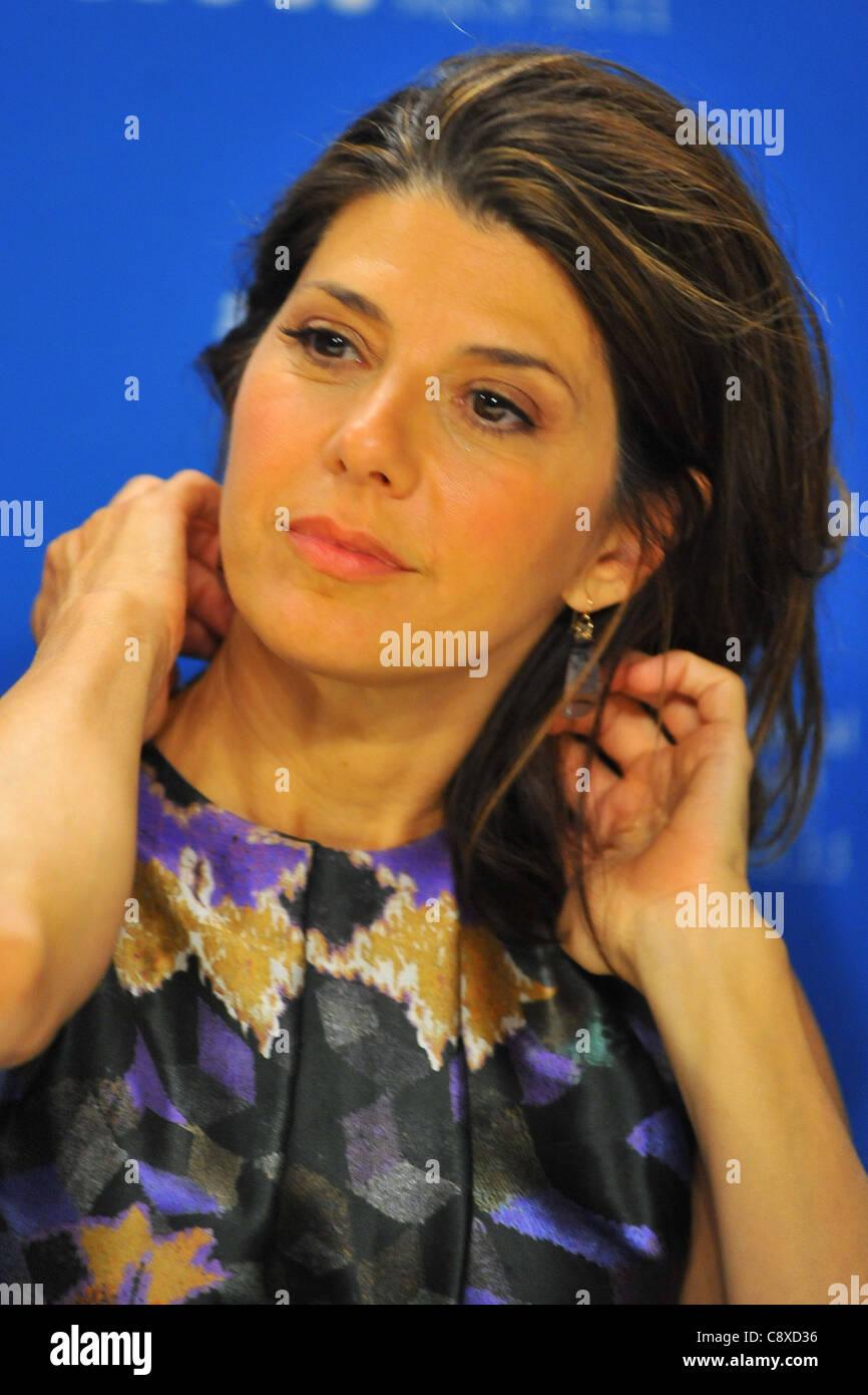 Marisa Tomei atpress conferenceIDES MARCH Press Conference Toronto International Film Festival TIFF Bell Lightbox - Stock Image