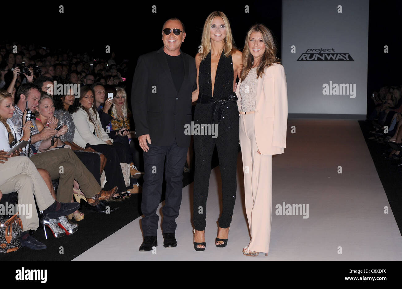 Nina Garcia Heidi Klum Michael Kors In Attendance Project Runway Stock Photo Alamy