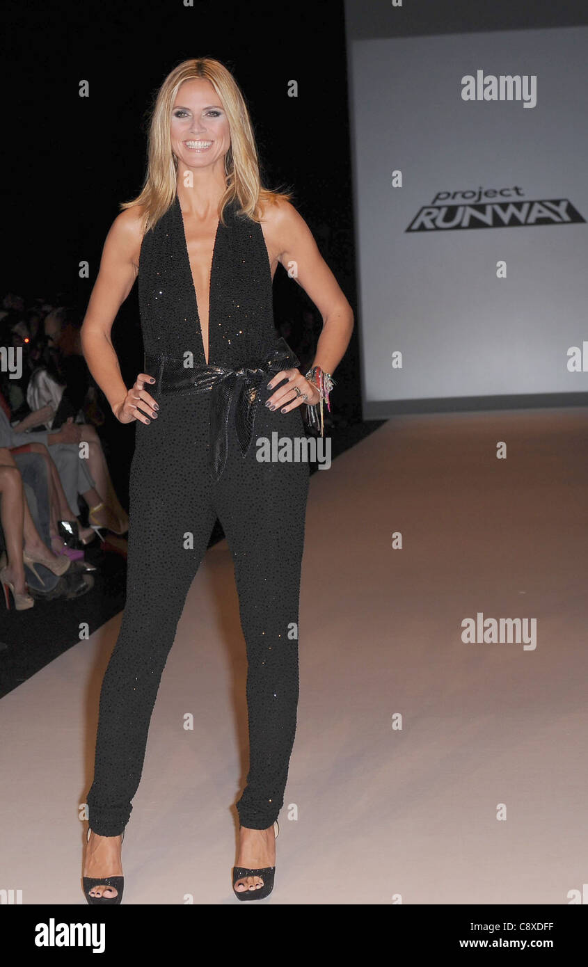 Heidi Klum In Attendance Project Runway Fashion Show Mercedes Benz Stock Photo Alamy