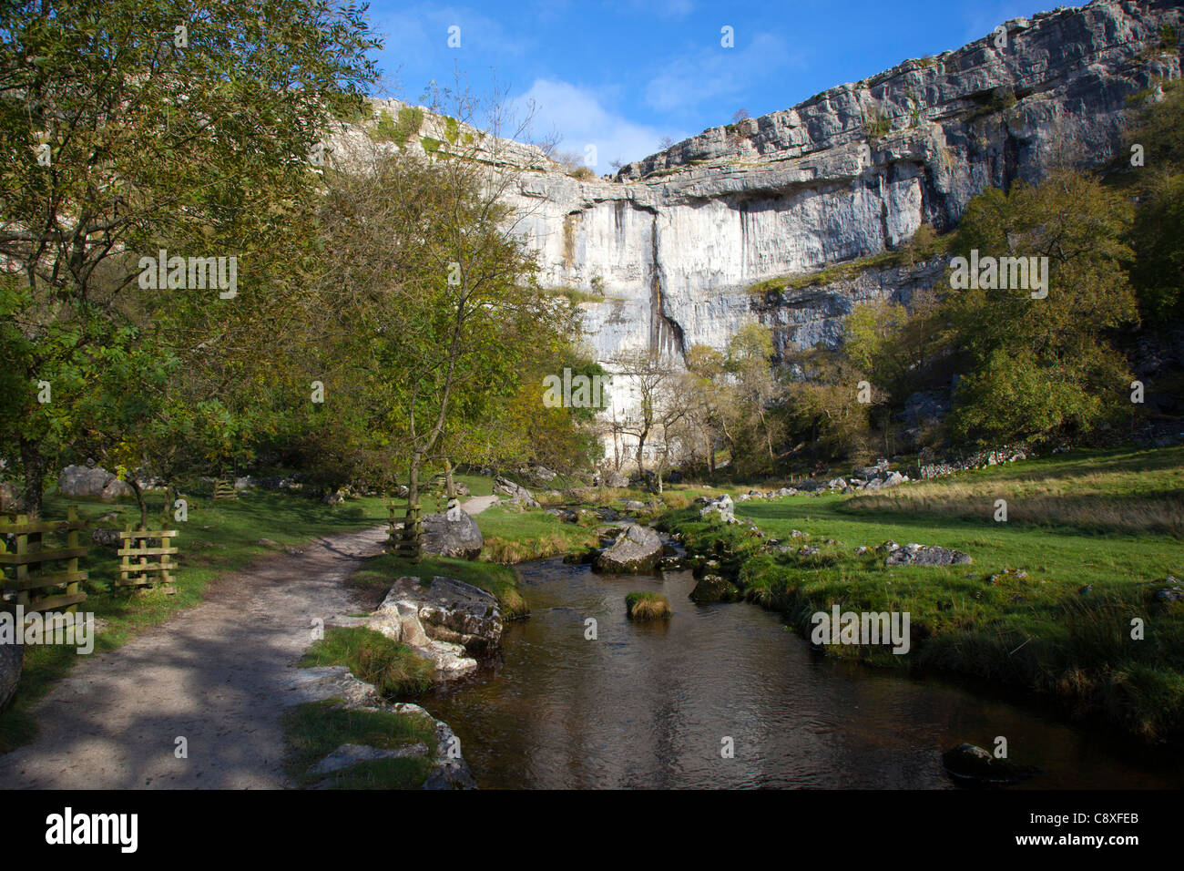 Malham Cove; Yorkshire; UK - Stock Image
