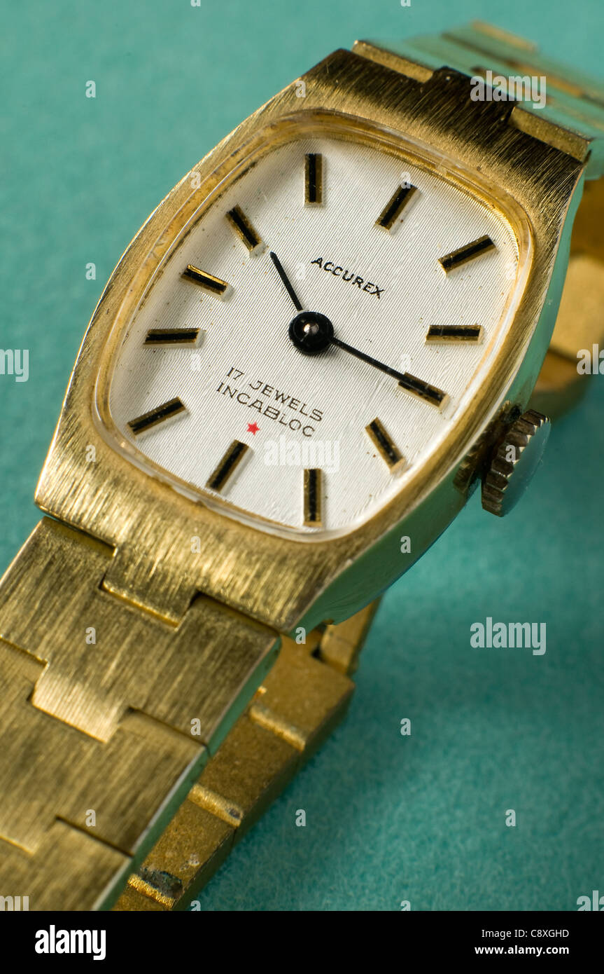 Early 1960's Accurex 17 jewel watch with incablock - Stock Image