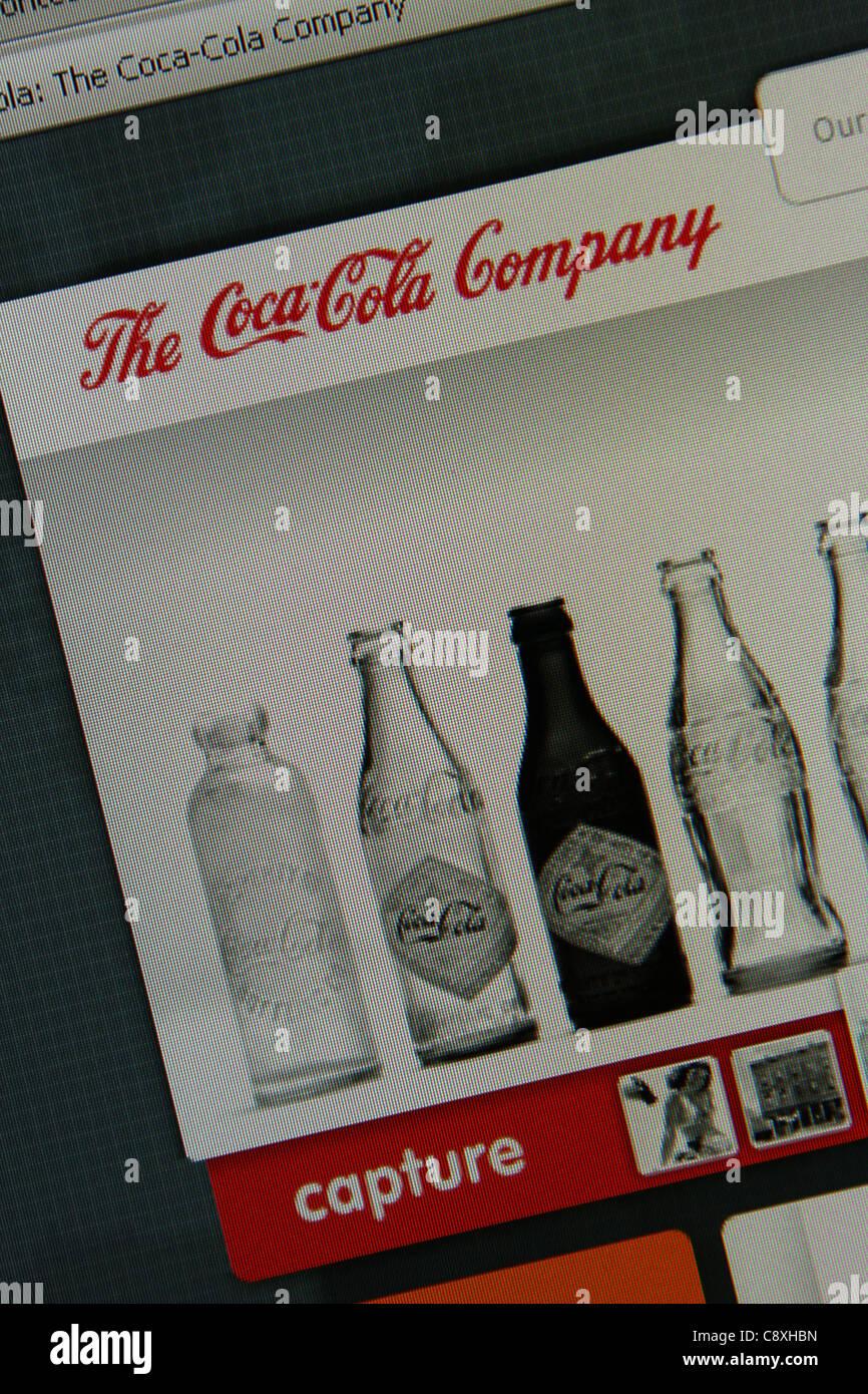 coca cola coke online website - Stock Image