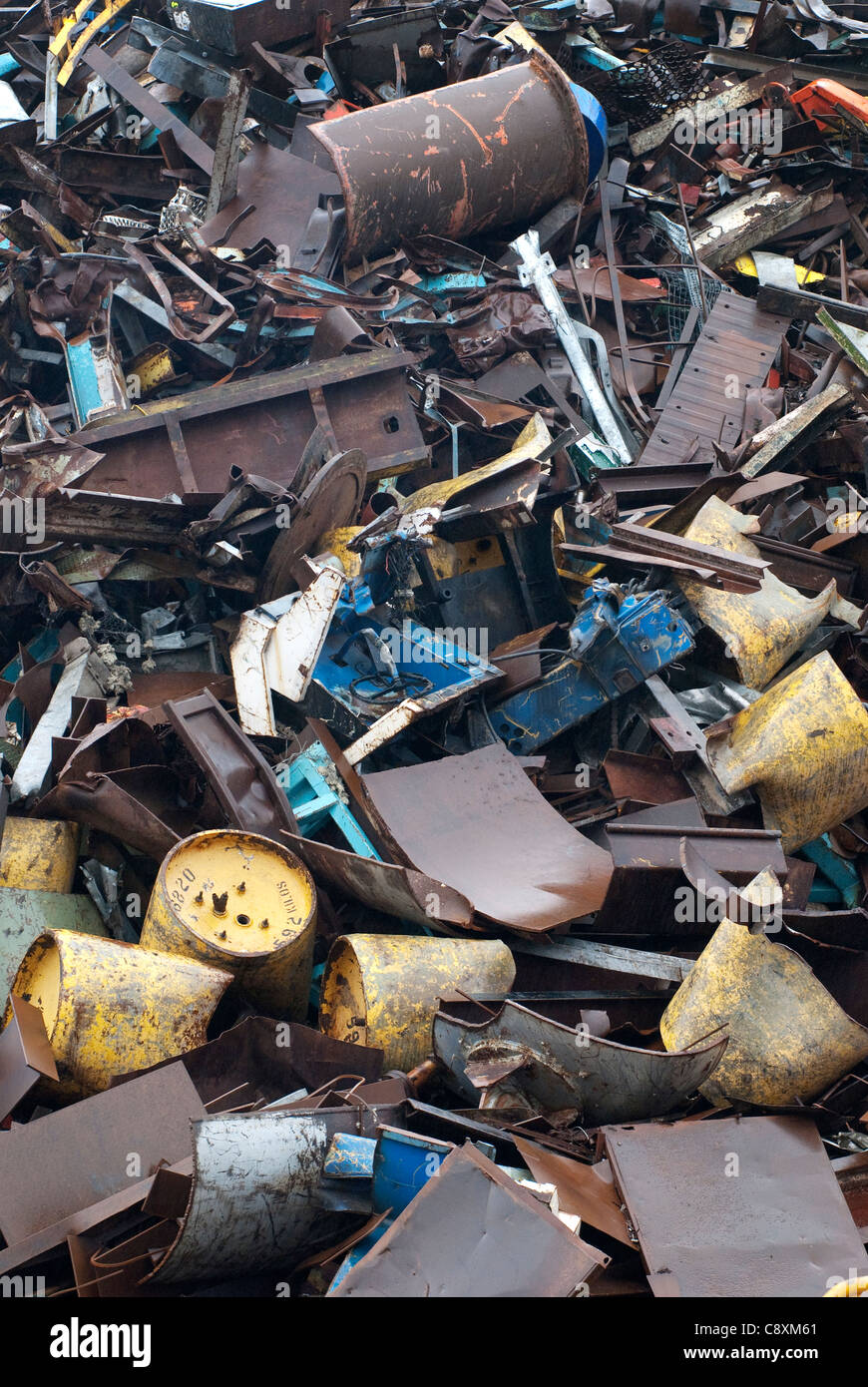 Scrap metal for recycling - Stock Image