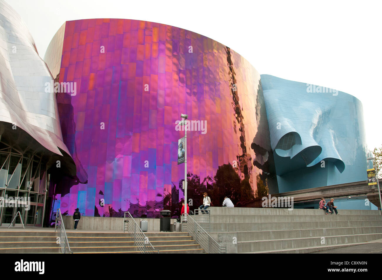 Experience Music Project by Frank Gehry Seattle Washington United States - Stock Image