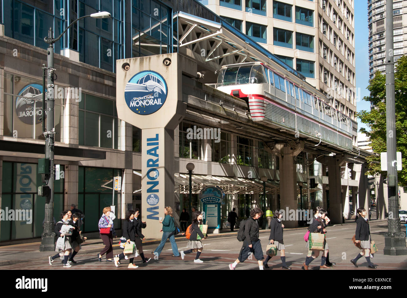 Monorail Seattle City Washington State United States - Stock Image