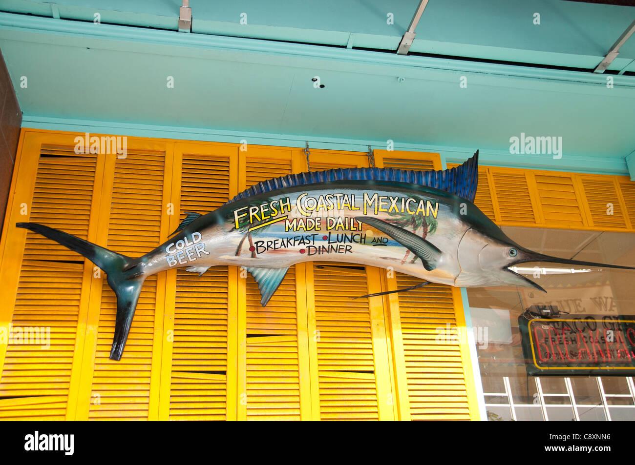 Restaurant  Fresh Coastal Mexican Pub Bar fish Seattle Town City Washington United States - Stock Image