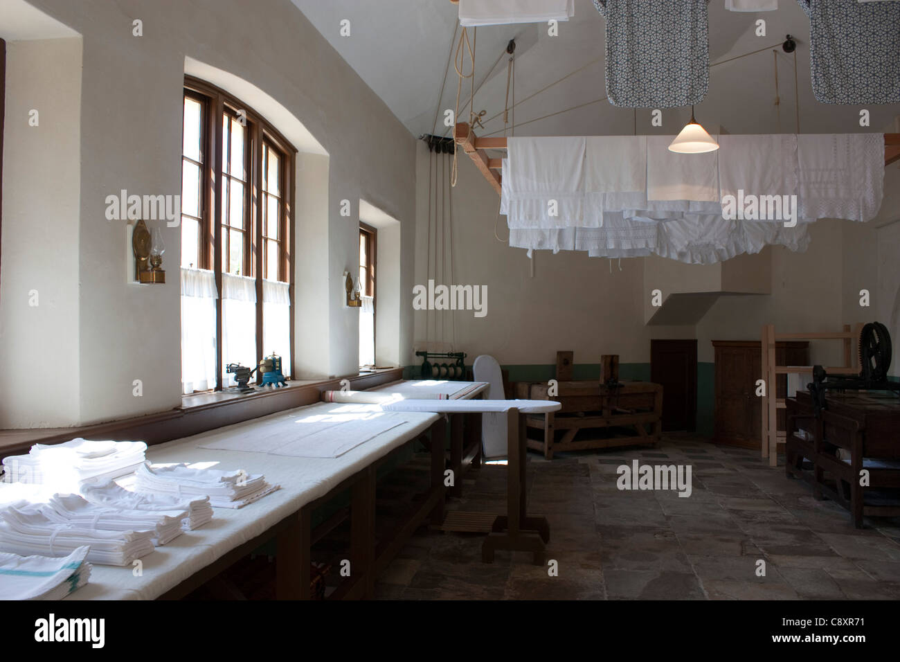 The laundry room at Audley End House and Gardens, Essex, England - Stock Image