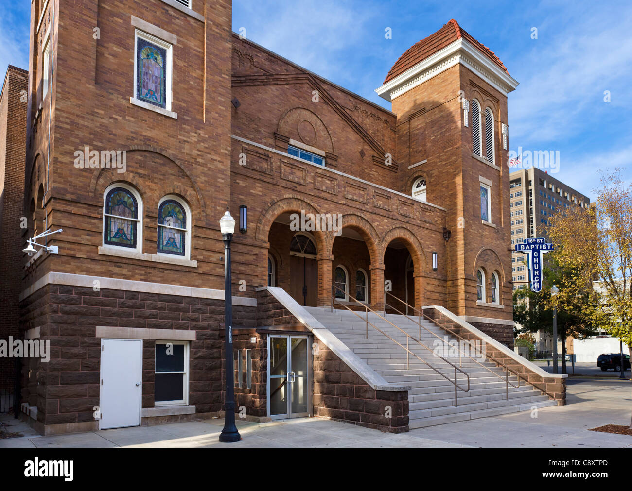 The 16th Street Baptist Church, centre of the civil rights movement in Birmingham, Alabama, USA - Stock Image