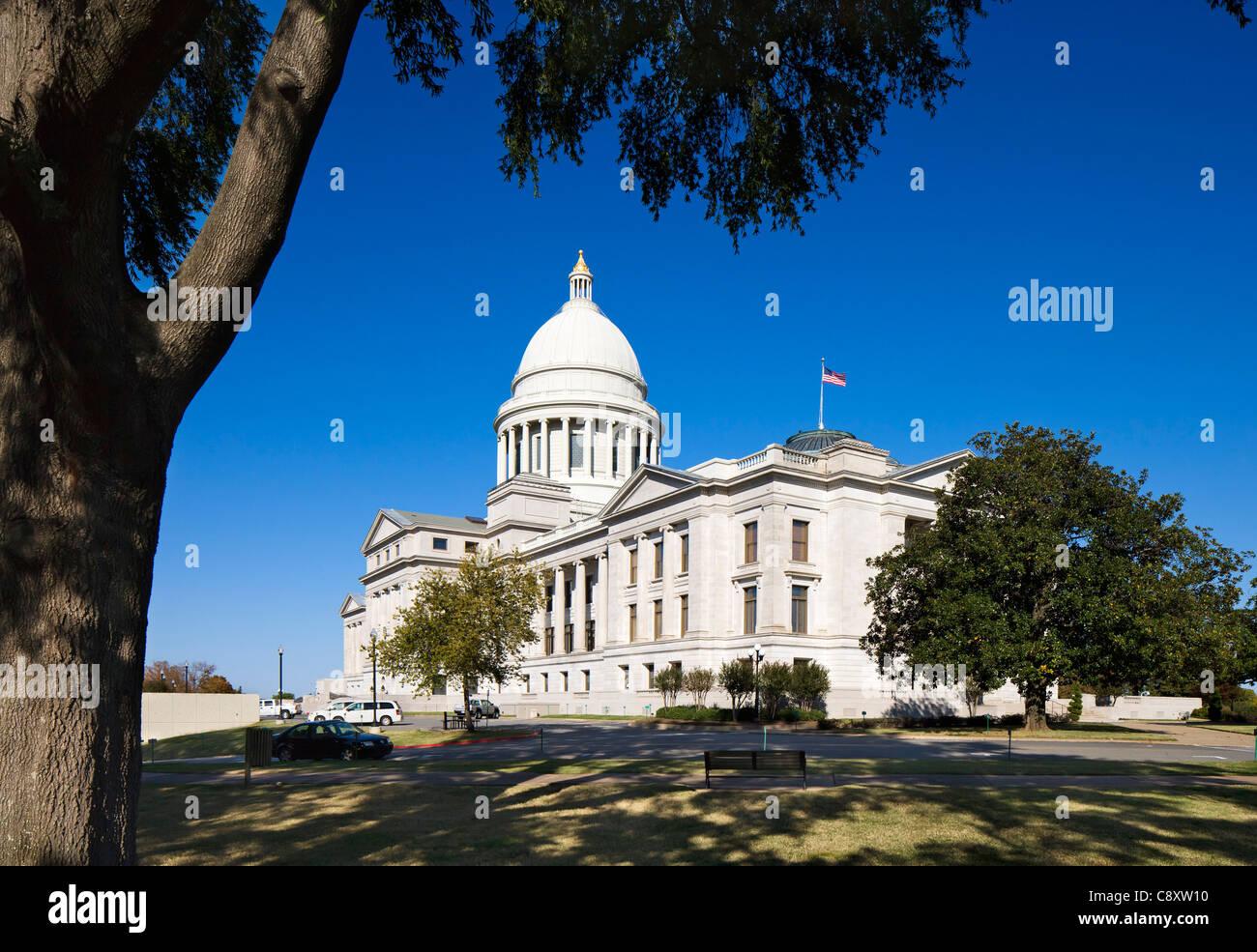 Arkansas state capitol dome stock photos arkansas state capitol the arkansas state capitol building little rock arkansas usa stock image malvernweather Gallery