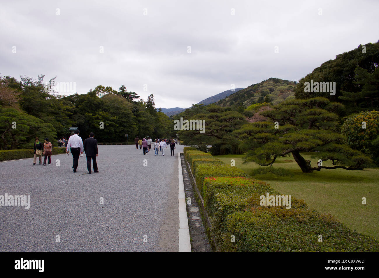 Stunning gardens at Ise Grand Shrine, Japan. - Stock Image