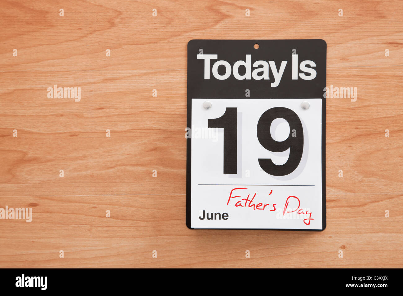 Fathers Day Calendar Stock Photos Fathers Day Calendar Stock