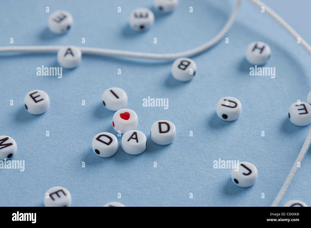 I love dad beads, studio shot - Stock Image