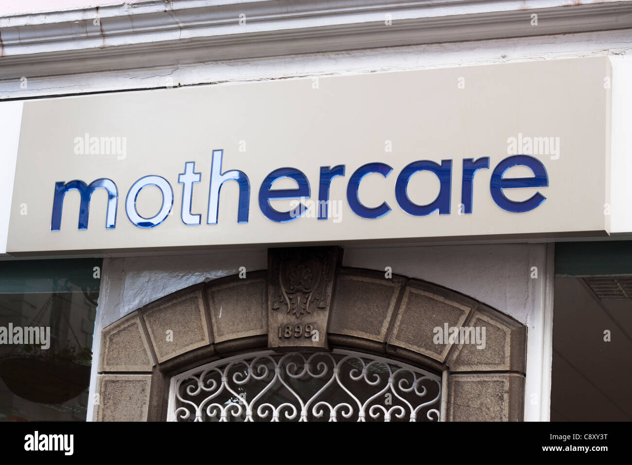 Mothercare sign, Main Street in Gibraltar. - Stock Image