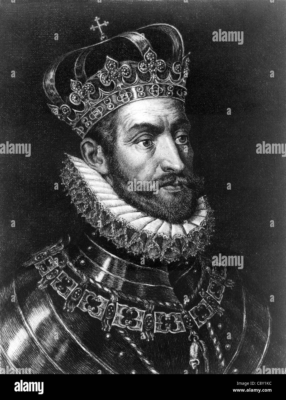 Charles V, King of Spain and Emperor of Germany - Stock Image
